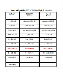 High School Class Schedule Sample Rome Fontanacountryinn Com