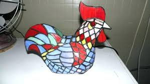 stained glass rooster lamp next value seaside themed lamps table nautical ceiling