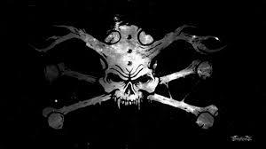 skull and crossbones wallpaper