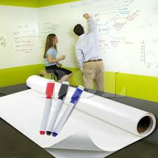 2m x 60cm dry wipe removable whiteboard vinyl wall sticker office home 3 marker