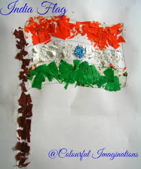 a fun filled republic day craft of indian flag with crayon shavings