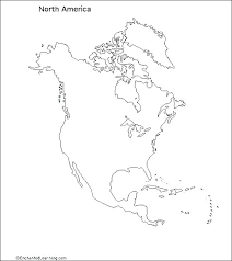 North And South America Blank Map Map Of America Blank Jakeduncan Co