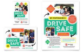 School Poster Designs Driving School Flyer Ad Template Design
