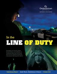 In The Line Of Duty Ontario Ombudsman
