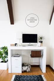 a chic home office with a standing desk from hayneedle copycatchic luxe living for less