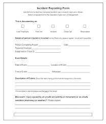 Free Workplace Incident Report Form Mpla Investigation Accident