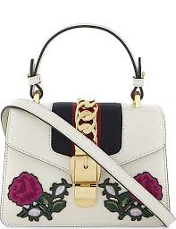 gucci bags for kids. gucci sylvie leather peony appliqué mini shoulder bag gucci bags for kids