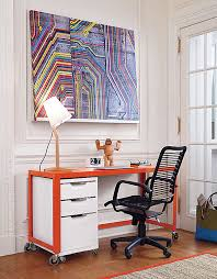 modern home office featuring glossy white. Metal Desks Modern Home Office Featuring Glossy White