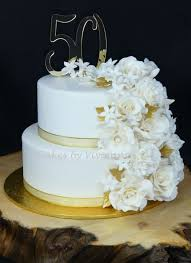 50th Wedding Anniversary Cake Cake By Cakes By Vivienne Cakesdecor