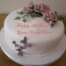 Happy Birthday Cake Images With Name Editor Online Bday Wishes Cakes