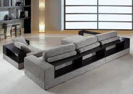 amazoncom anthem  grey fabric modern sectional with wood
