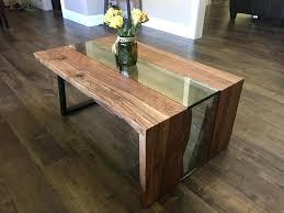 metal top coffee table. Metal Top Coffee Table Industrial Glass Waterfall Lift