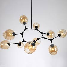 lindsey adelman globe branching bubble chandelier 110v220v nordic modern light lighting pendent lamp glass ball chandelier lights online n62