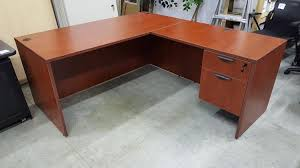 cherry office furniture. Cherry Shape Office Desk With Locking Drawers Intended Furniture