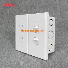 SIÊU RẺ] Combo ổ cắm điện đôi 3 chấu LiOA 16A 3520W + 2 công tắc điện - Lắp  âm tường, Giá siêu rẻ 85,000đ! Mua liền tay! - SaleZone Store