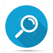 magnifying glass icon blue. Fine Magnifying Vector  White Magnifying Glass Icon On Blue Button Isolated White With Icon Blue