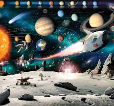 Space Bedroom Space Mural Wall Murals Ireland