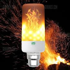 Light Bulbs That Look Like Fire Ywxlight B22 Led Flame Effect Fire Light Bulbs Flickering Emulation Flame Lamp Ac85 265v