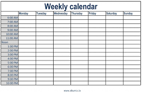 Week Planner With Times Daily Planner With Time Slots Magdalene Project Org