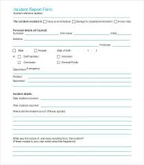 Incident Reporting Form Enchanting Accident Injury Report Form Template Incident Investigation