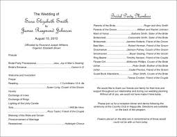 wedding party program templates what to include in your wedding program