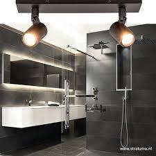 Moderne Badkamer Plafondlamp Zwart Straluma