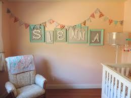 Baby Name Wall Designs Our Baby Siennas Diy Nursery Baby Decor Girl Room Name