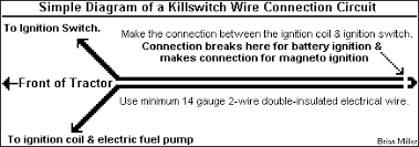 ignition solutions for small engines and garden pulling tractors simple diagram of the killswitch circuit