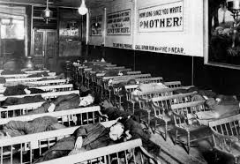 great depression definition history causes effects facts men sleeping in the beacon light mission in new york city during the great depression