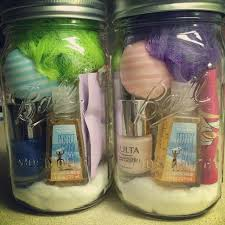 Ball Jar Decorations The spa in a jar is a great idea for girlfriends Everything they 40