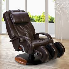 massage chair modern. human touch technology massage chair brown luxury upholstered leather swivel with armand legs holder modern i