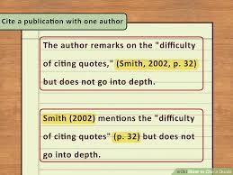 How To Cite A Quote