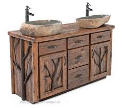 images of rustic furniture. Brilliant Rustic Rustic Log Vanity With Images Of Furniture Y