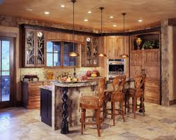 Rustic Kitchen Perfect Match Gorgeous Antique And Rustic Kitchen Lighting