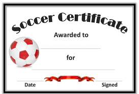 soccer awards templates soccer award certificate templates free best templates ideas