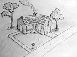 architecture house drawing. Suburban House Drawing Architecture A