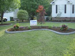 attractive concrete flower bed edging curbing around round design border mold cost wall diy form home