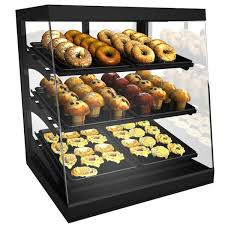 countertop bakery display case with swinging rear doors main picture
