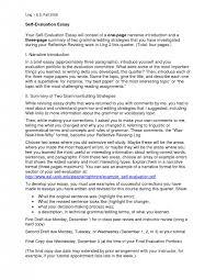 cover letter speech self evaluation essay self evaluation speech examples of evaluation essay