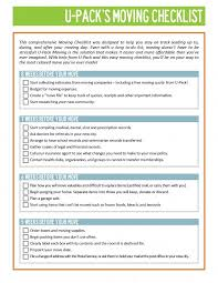 Checklist Printable Moving List Home Inventory And Packing
