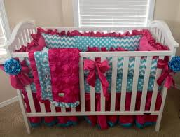 bedding cribs rustic hot pink crib design home interior furniture satin patchwork leopard skirt oval embroidered