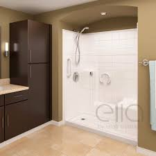 prestige multi piece low threshold shower with molded seat