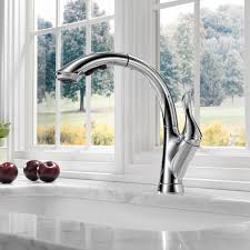 Most Reliable Kitchen Faucets Delta Linden Single Handle Pull Out Standard Kitchen Faucet