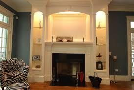 built in shelves around fireplace ideas round designs