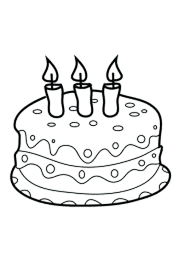 Cake Coloring Pages Johnsimpkinscom