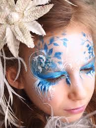 snow fairy face paint