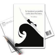 Carte Postale Citation Victor Hugo Le Bonheur Cpci 004