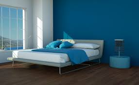 dark blue accent wall in master bedroom paint surripui pertaining to dark blue paint colors intended