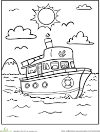 Small Picture Boat Coloring Pages Educationcom