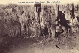 a historic photograph of the arcy sur cure cave